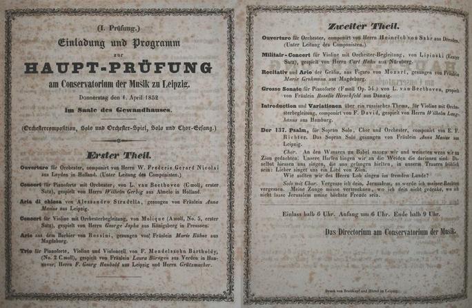 Kein Scherz Prüfung am 1. April 1852
