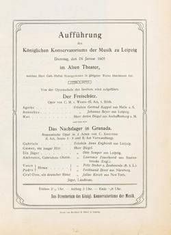 Aufführung der Opernschule Auszüge aus zwei Opern