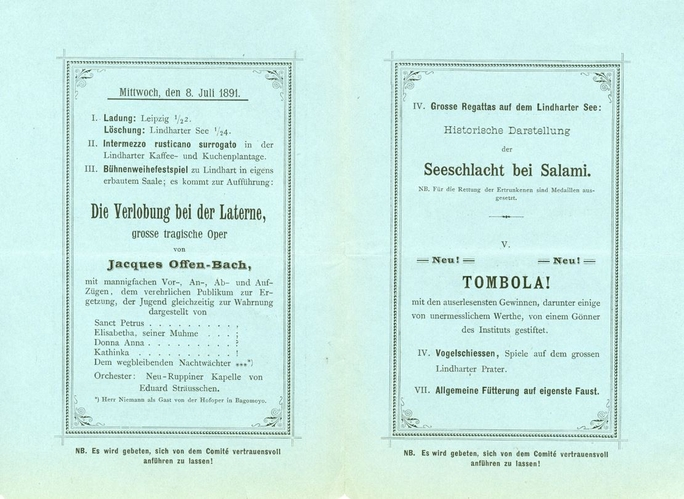 Sommerausflüge 8. Juli 1891, Lindharter See