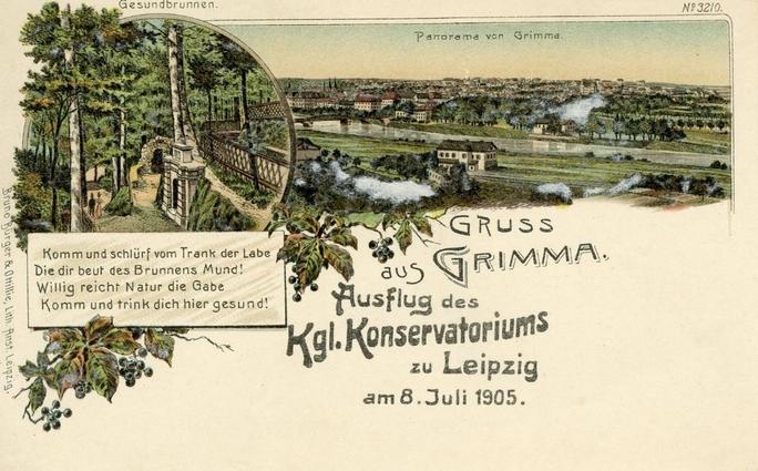 Sommerausflüge 8. Juli 1905, Grimma