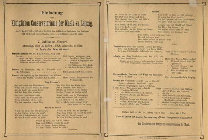 Jubiläumskonzertreihe zum 40jährigen Bestehen des Konservatoriums Konzert V