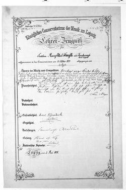 Todestag von Ethel Smyth Studentin des Königlichen Conservatoriums der Musik zu Leipzig