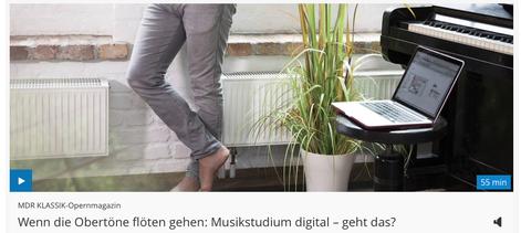 Sendung über Online-Unterricht an der HMTvon MDR Kultur/MDR KLASSIK Meldung vom 19. Mai 2020