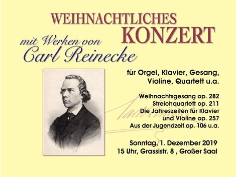 Weihnachtliches Konzert So, 1.12.2019, 15 Uhr,Grassistr. 8, Großer Saal