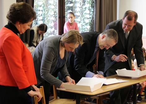 Grundschule forum thomanum und HMT Kooperationsvereinbarung unterzeichnet
