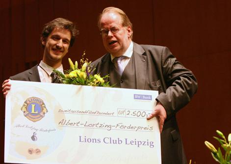 HMT-Student Diogo Mendes gewann am 30. Januar 2014den 13. Lortzing-Wettbewerb