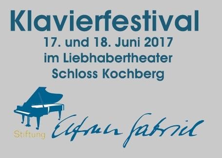 Klavierfestivalauf Schloss Kochberg Samstag/Sonntag, 17./18.6.2017