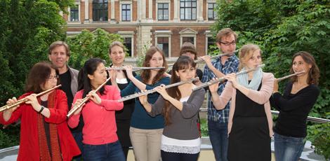 Querflötenklasse Prof. Irmela Boßler