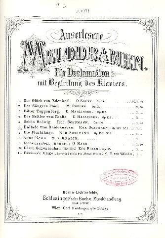 Das europäische Melodram im »langen 19. Jahrhundert« I. Studientag des Instituts für Musikwissenschaft, 2012