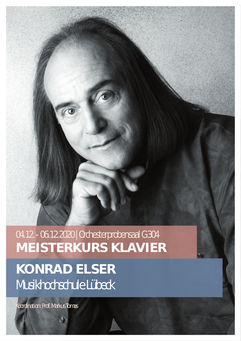 Prof. Konrad Elser Meisterkurs Klavier 4. bis 6. Dezember 2020