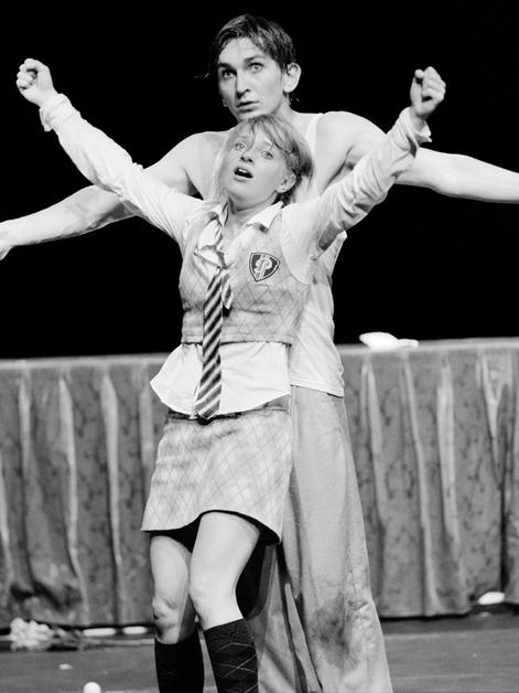 Paarpreis für Katharina Schmidt und Till Wonka Studio Chemnitz,Theatertreffen deutschsprachiger Schauspielstudierender Frankfurt2005
