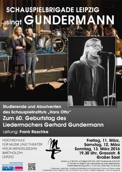 KONZERT Schauspielbrigade Leipzig singt Gundermann