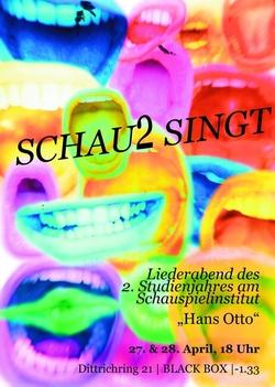 Liedgestaltung Präsentation2. Studienjahr